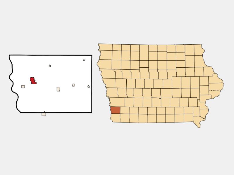 Glenwood location map