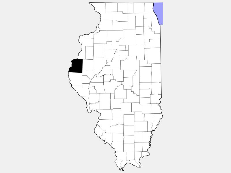 Hancock County locator map