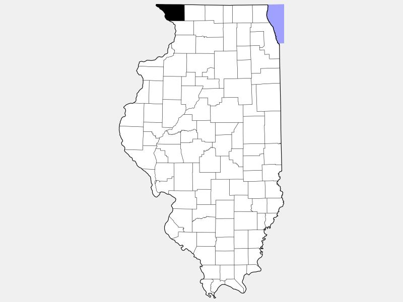 Jo Daviess County locator map