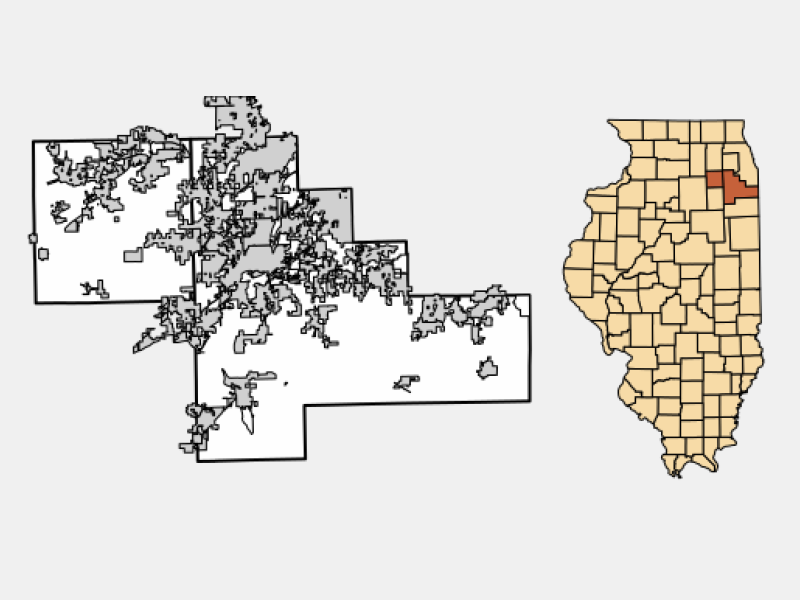 Joliet locator map