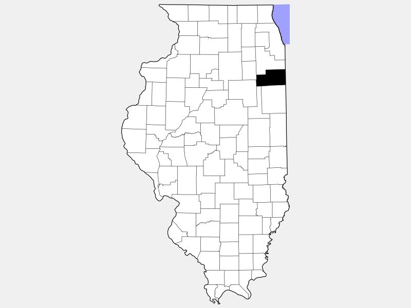 Kankakee County locator map
