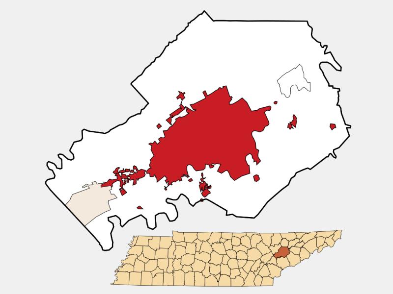 Knox locator map