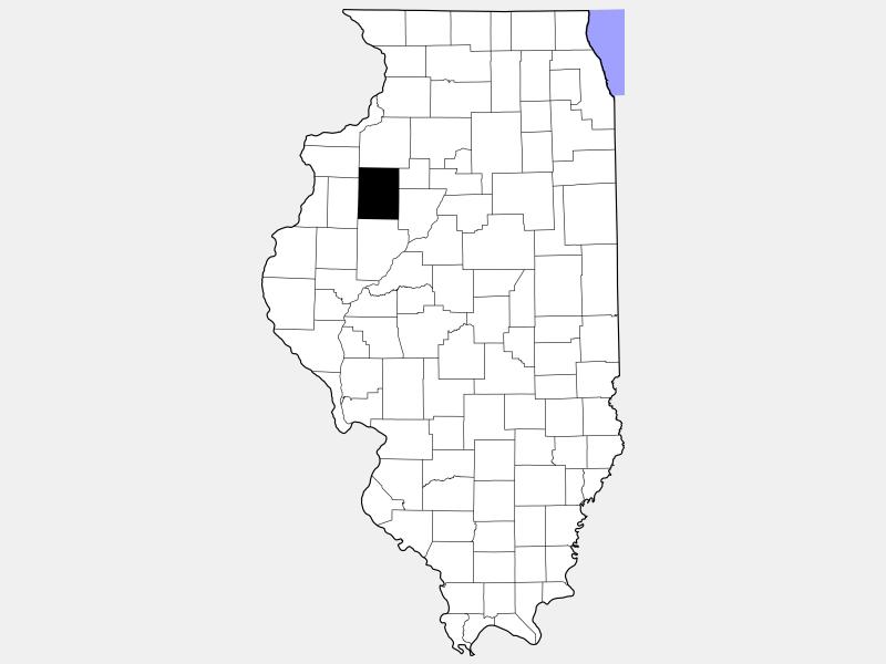 Knox County locator map