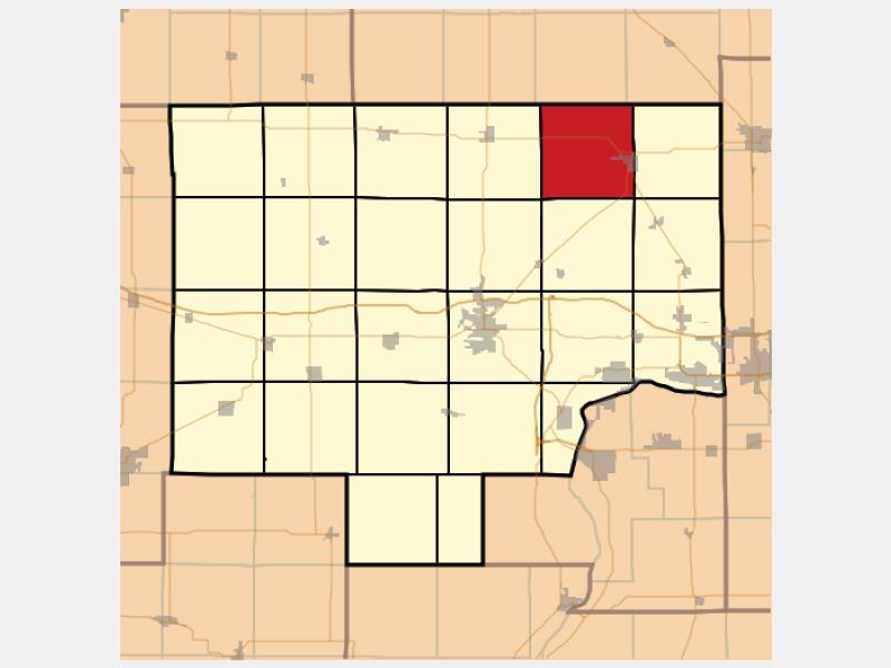 La Moille locator map