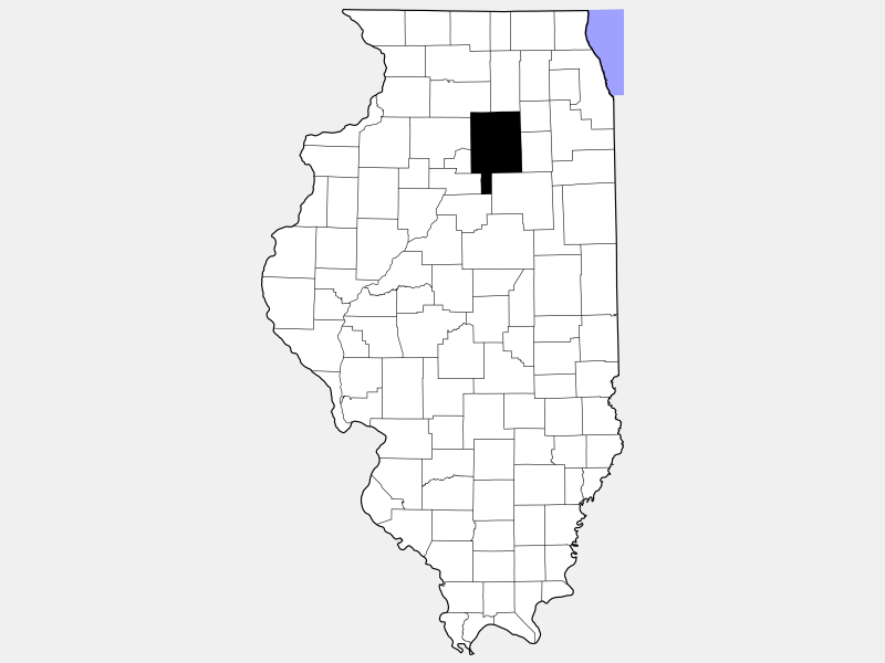 LaSalle County locator map