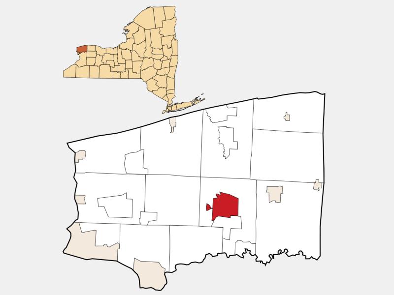 Lockport location map