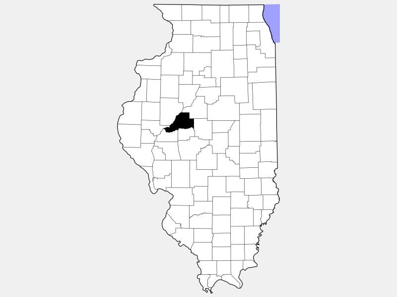 Mason County locator map