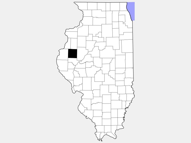 McDonough County locator map