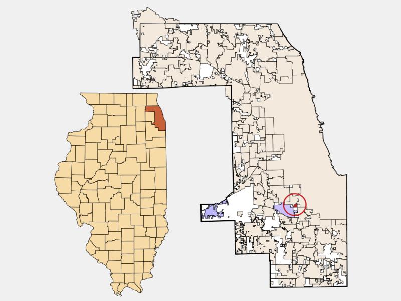 Merrionette Park location map