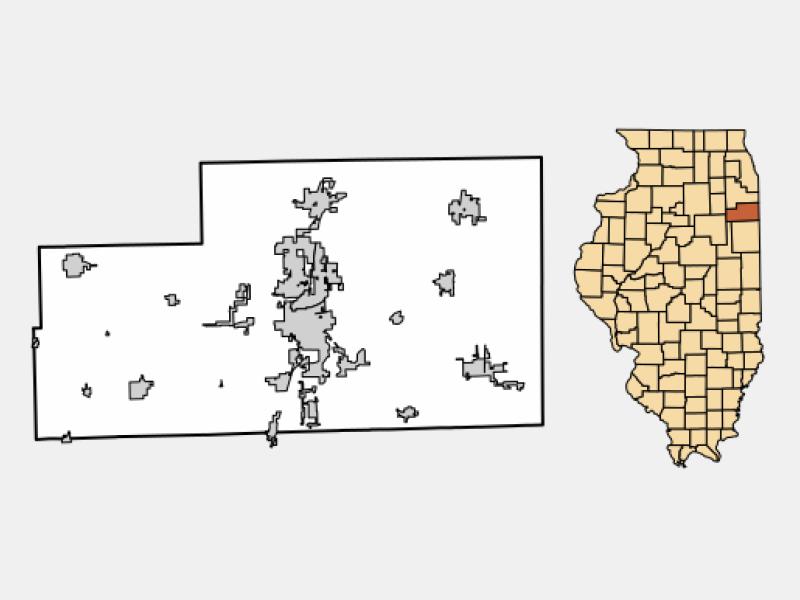 Momence locator map