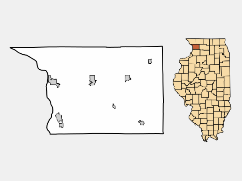 Mount Carroll locator map