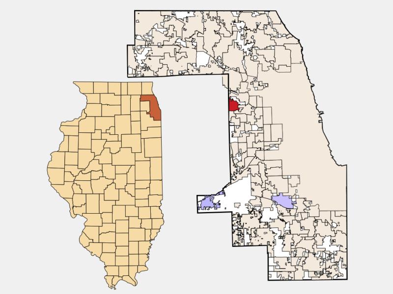 Northlake location map
