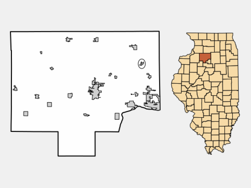 Ohio locator map