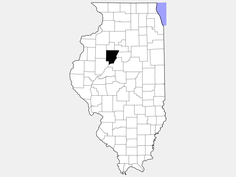 Peoria County locator map