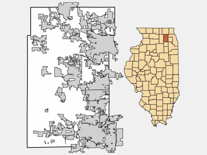 Pingree Grove locator map