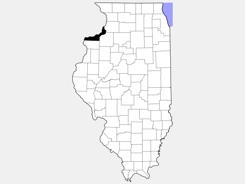 Rock Island County locator map