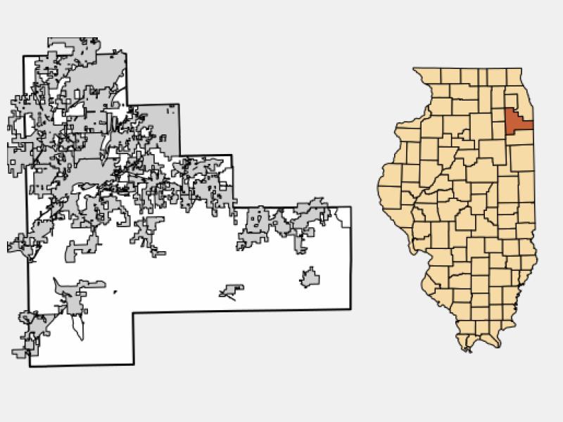 Romeoville locator map