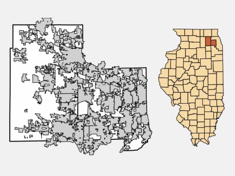 St. Charles locator map