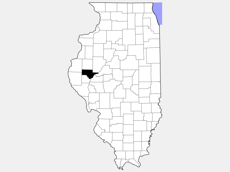Schuyler County locator map