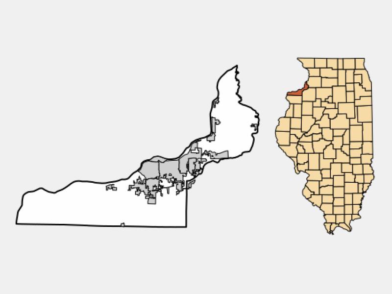 Silvis location map