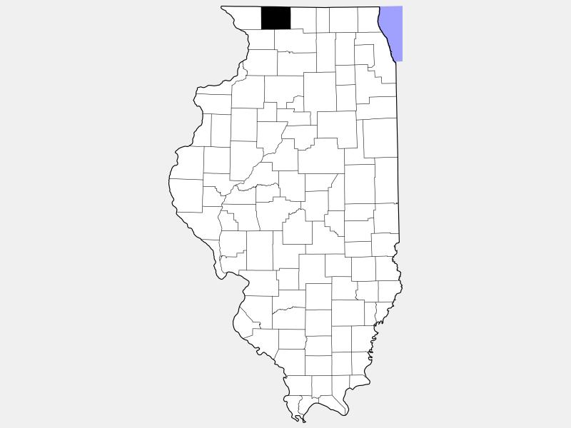 Stephenson County locator map
