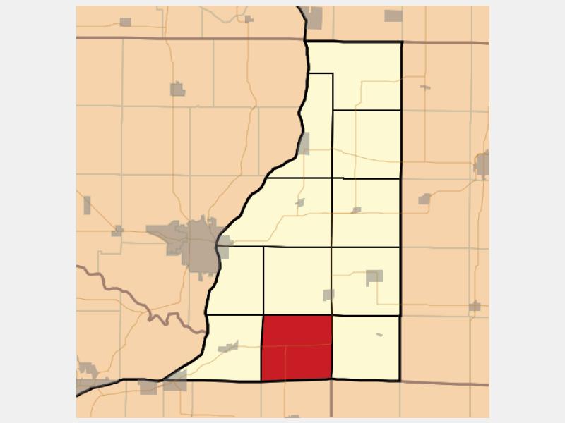 Terre Haute locator map