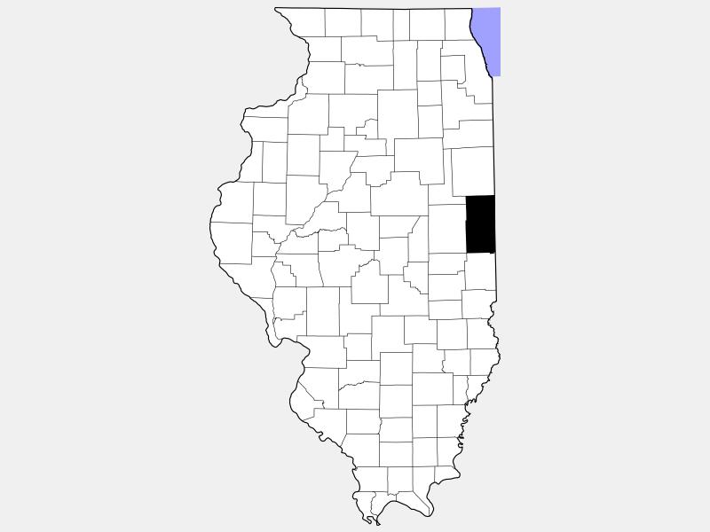 Vermilion County locator map