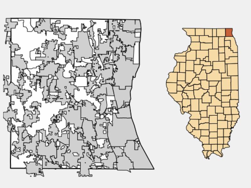 Waukegan locator map