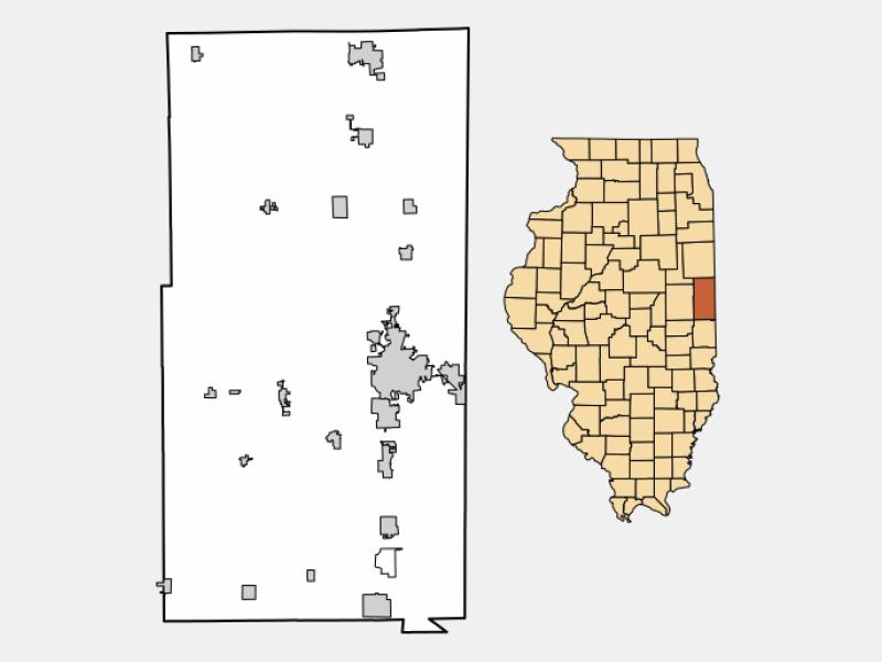 Westville locator map