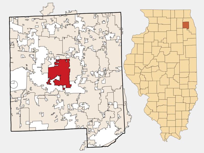 Wheaton location map