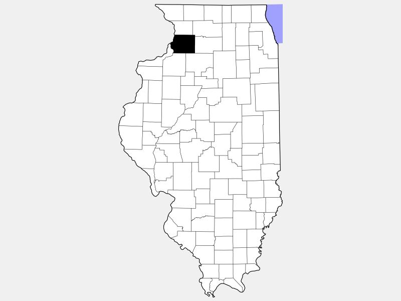 Whiteside County locator map
