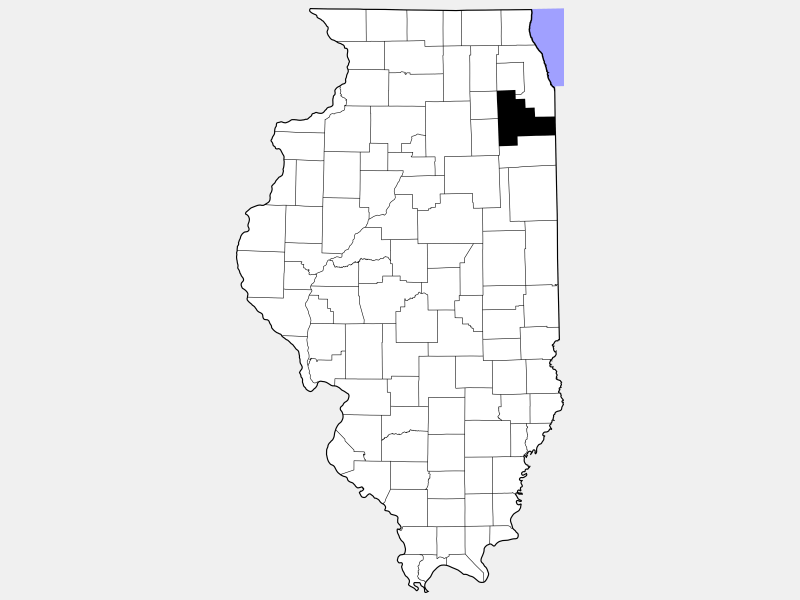 Will County locator map