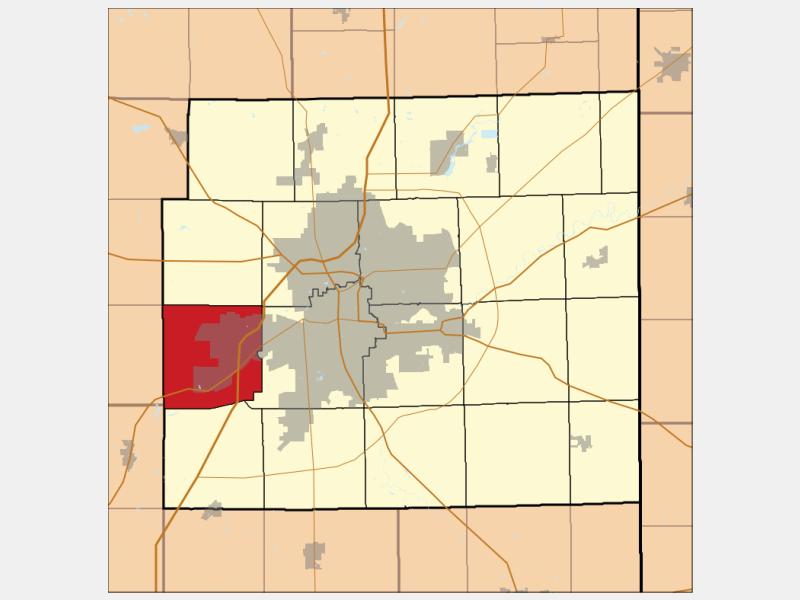 Aboite locator map