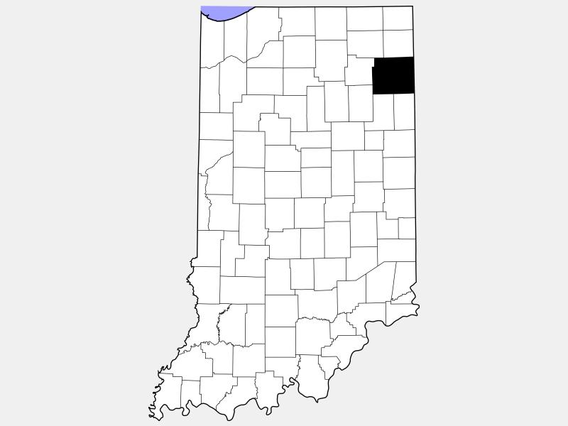 Allen County locator map