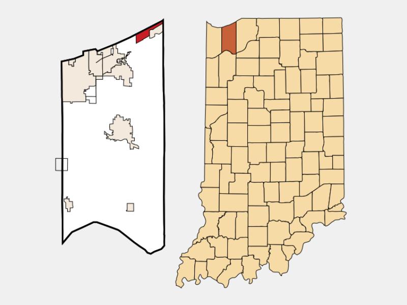 Beverly Shores locator map