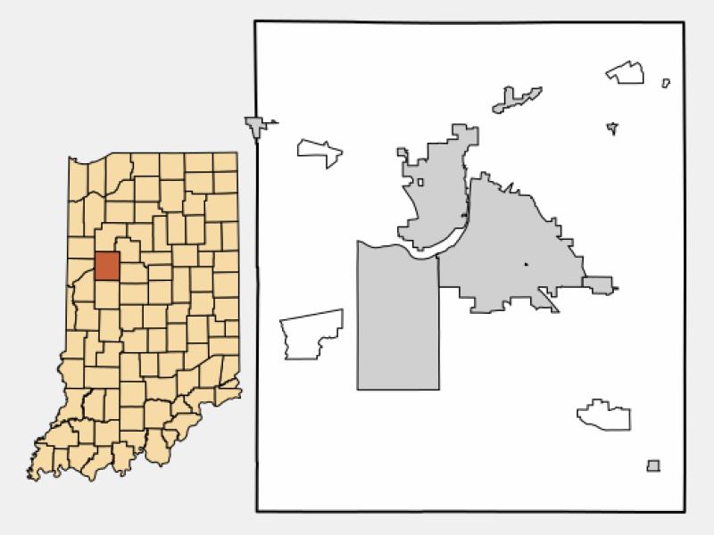 Buck Creek locator map