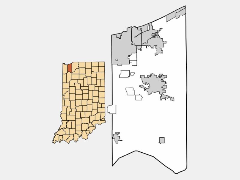 Burns Harbor locator map