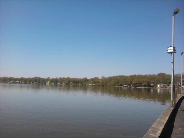 Cedar Lake looking west image