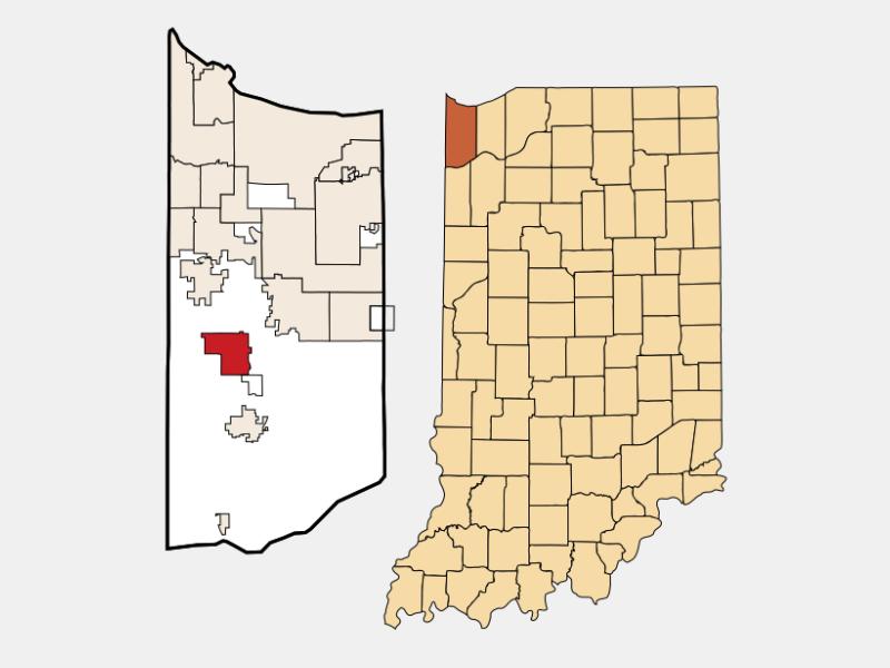 Cedar Lake locator map