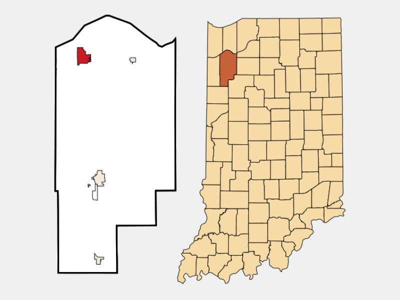 DeMotte locator map