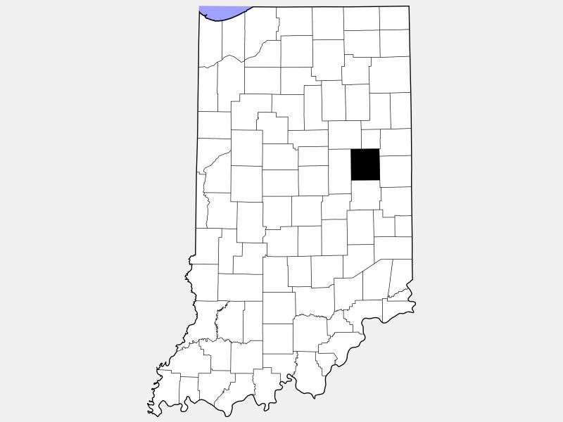 Delaware County location map