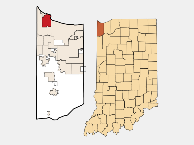 East Chicago locator map