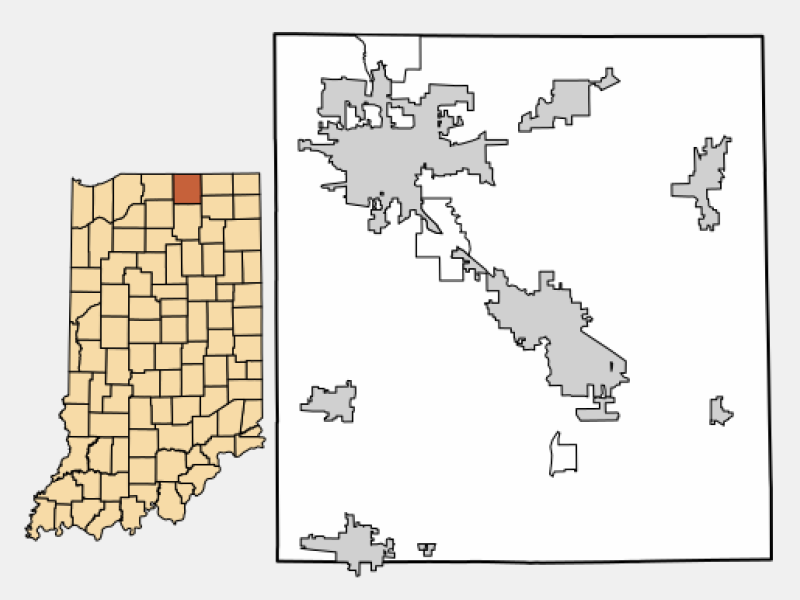 Elkhart locator map