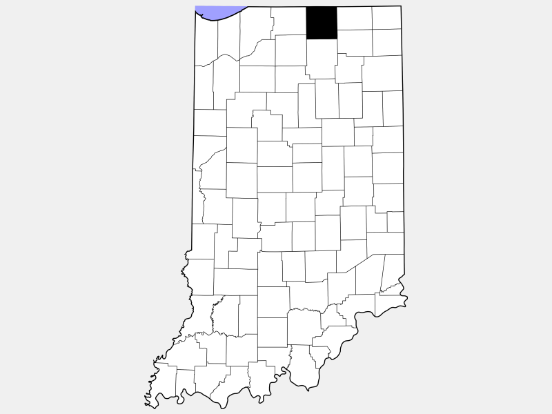 Elkhart County locator map