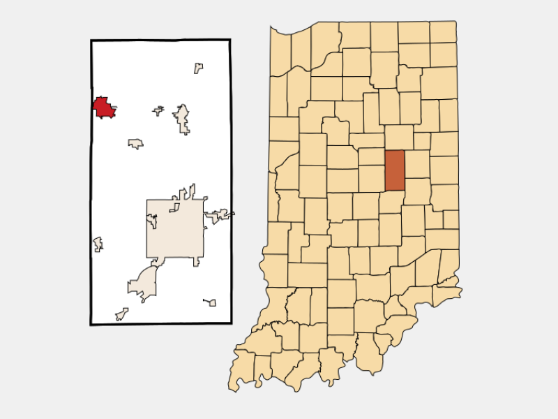 Elwood locator map