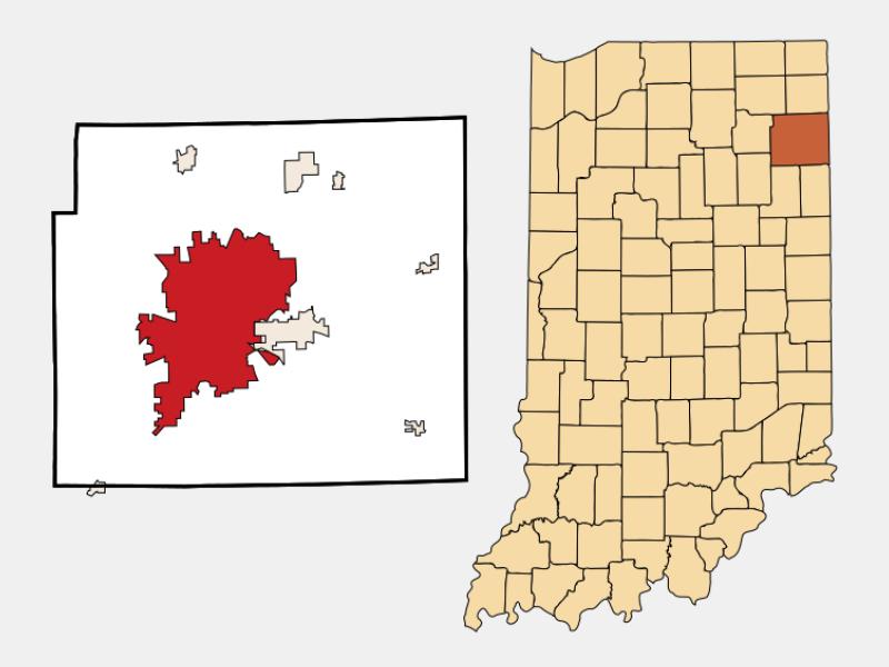 Fort Wayne locator map
