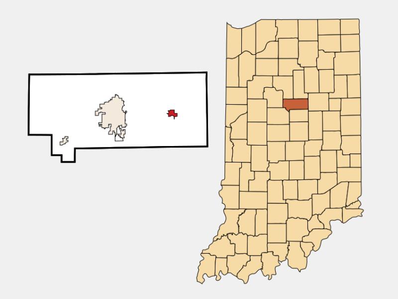 Greentown locator map