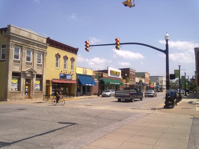 Main Street in downtown Hobart  Indiana image
