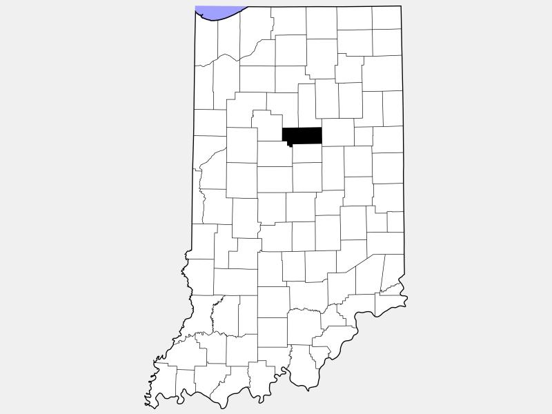 Howard County locator map