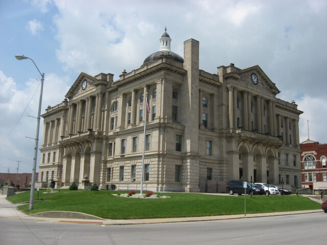 Huntington County Courthouse in Huntington from the southeast image